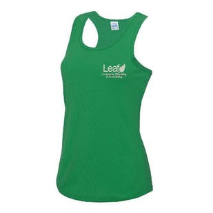 Leaf Charity Embroidered Ladies Sports Vest