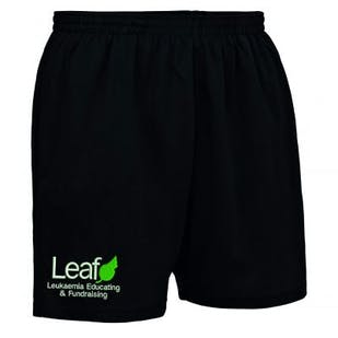 Leaf Charity Embroidered Mens Sports Shorts