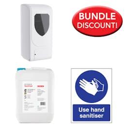 5 Litre Sanitiser, Automatic Dispenser Kit + Free Sign