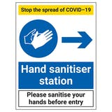 Stop The Spread - Hand Sanitiser Station Right