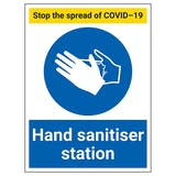 Stop The Spread - Hand Sanitiser Station