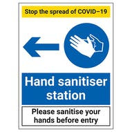 Stop The Spread - Hand Sanitiser Station Left