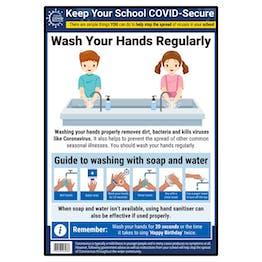 Handwashing In Schools Poster