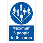 Maximum 6 People In This Area