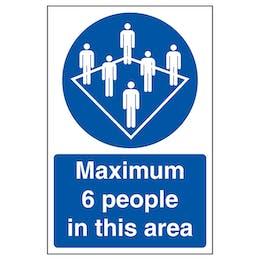 Maximum 6 People In This Area