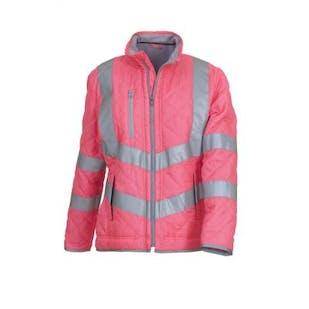 Yoko Ladies Hi-Vis Kensington Fleece Lined Jacket
