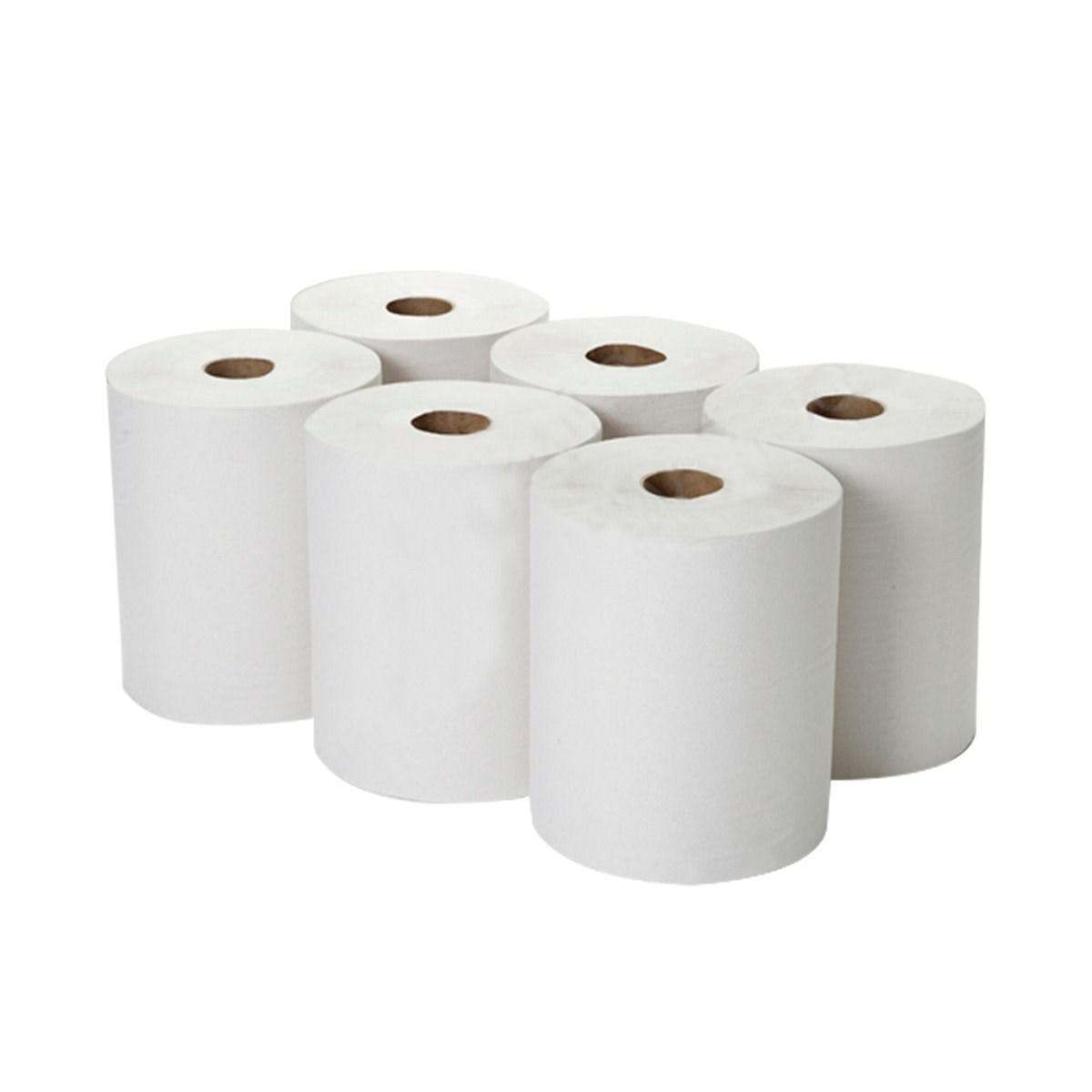 Centrefeed White Rolls – 2ply – 150m – Pack of 6