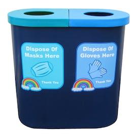 PPE Disposal Twin Bin