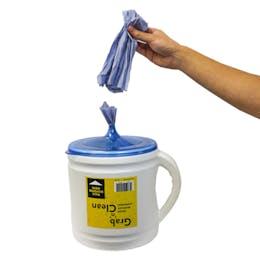 Grab 'n' Clean Portable Roll Dispenser
