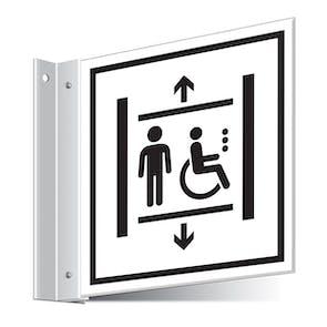Accessible Lift Corridor Sign