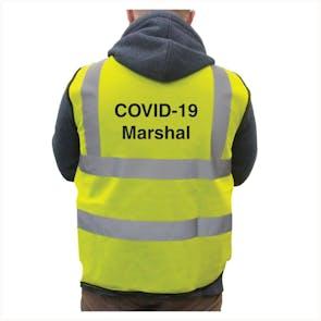 Hi-Vis Vest COVID-19 Marshal