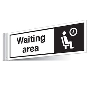 Waiting Area Corridor Sign