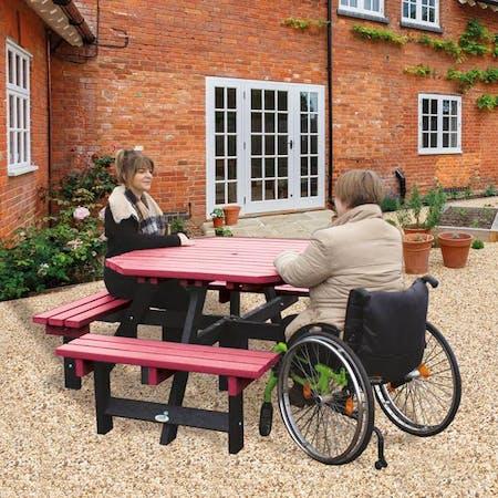 Wheelchair Access Picnic Table - Octagonal