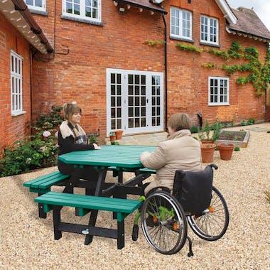 Wheelchair Access Picnic Tables - Octagonal