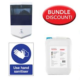 5L Sanitiser, Automatic Dispenser Kit + Free Sign