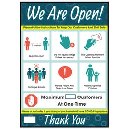 We Are Open Signs & Posters