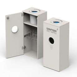 Wipe Dispenser Station With Bin