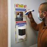 Temperature Check Station With Auto Dispenser