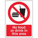 Food & Drink Prohibition Signs