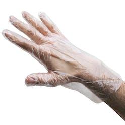 Embossed HDPE Polythene Gloves