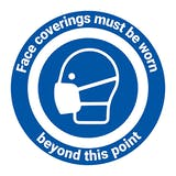 Face Coverings Beyond This Point Temporary Floor Sticker