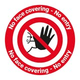 No Face Covering - No Entry Temporary Floor Sticker