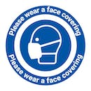 Please Wear A Face Covering Temporary Floor Sticker