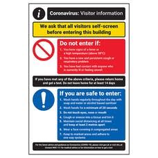 CV Visitor Information - Visitors Self-Screen