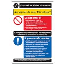 CV Visitor Information - Safe To Enter College