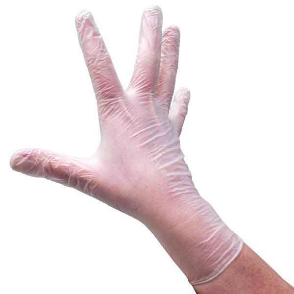 C2K Clear Powder Free Vinyl Gloves
