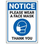 Notice - Please Wear A Face Mask