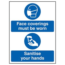 Face Coverings - Sanitise Hands