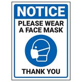 Notice - Please Wear A Face Mask