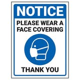Notice - Please Wear A Face Covering