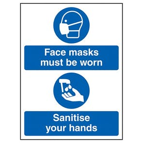 Face Masks - Sanitise Hands