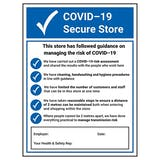 COVID-19 Secure Store 2021