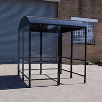 Domed 4-Sided Waiting Shelter With Aluminium Roof