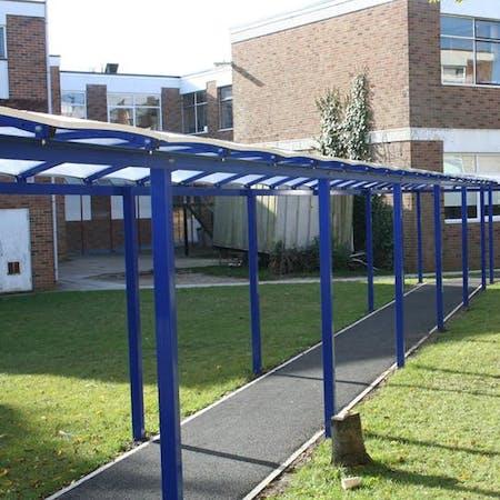 Freestanding Queue Shelter