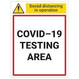 COVID-19 Testing Area - Portrait