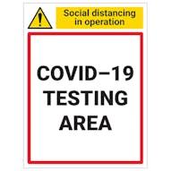 COVID-19 Testing Area
