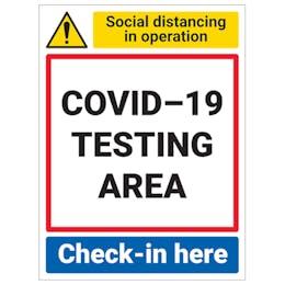 COVID-19 Testing Area - Check-In