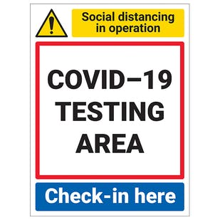 COVID-19 Testing Area - Check-In