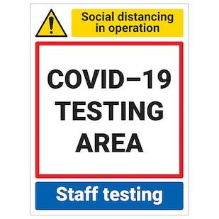 COVID-19 Testing Area - Staff Testing Area
