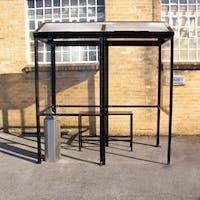 Apex 4-Sided Smoking Shelter - Polycarbonate Roof