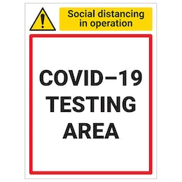 COVID-Secure Vaccine & Testing Centre Signs