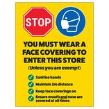 Stop - You Must Wear A Face Covering In Store