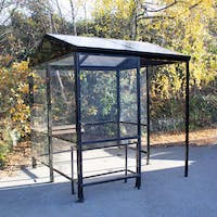Apex 4-Sided Waiting Shelter - Polycarbonate Roof