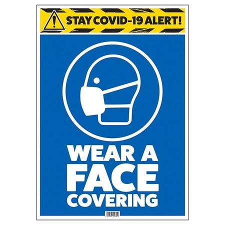 Stay COVID-19 Alert - Wear A Face Covering
