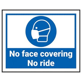 No Face Covering - No Ride Label