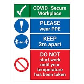 COVID-Secure Workplace - PLEASE Wear PPE